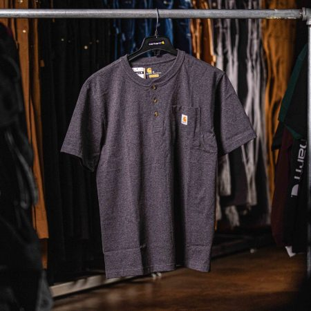 WORKWEAR SHORT-SLEEVE HENLEY T-SHIRT (CARBON HEATHER)