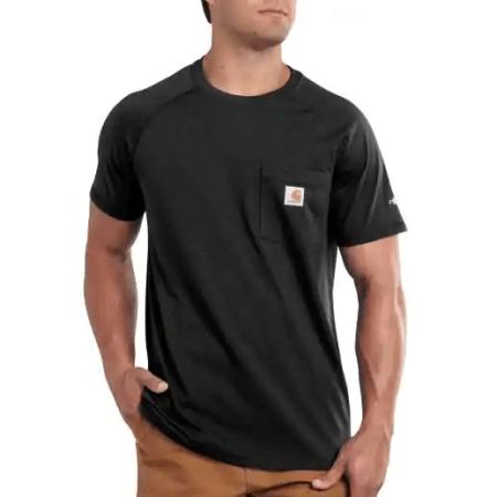 CARHARTT FORCE® COTTON DELMONT SHORT-SLEEVE T-SHIRT (BLACK)