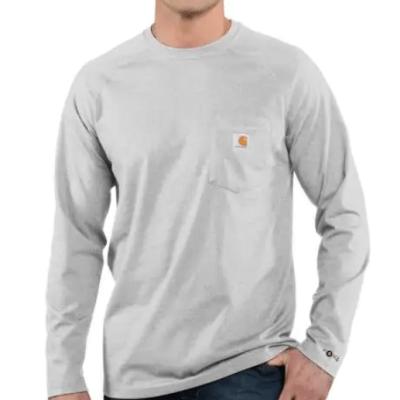 Men's Force Cotton Delmont Long Sleeve T-Shirt (Heather Grey)