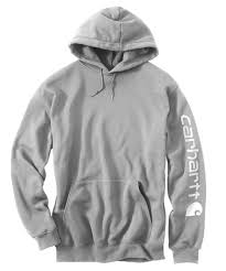 MIDWEIGHT HOODED LOGO SWEATSHIRT (HEATHER GREY)