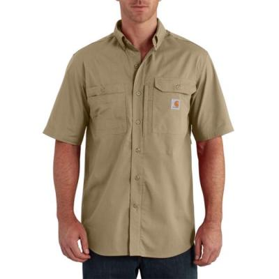 Force Ridgefield Solid Short Sleeve Shirt (Khaki)