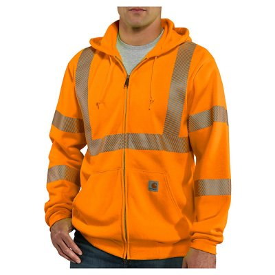 High-Visibility Zip Front Class 3 Sweatshirt (Brite Orange)
