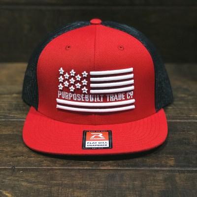 Freedom Snapback (Red/Black)