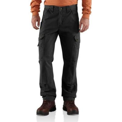 Cotton Ripstop Relaxed Fit Cargo Pant (Black)