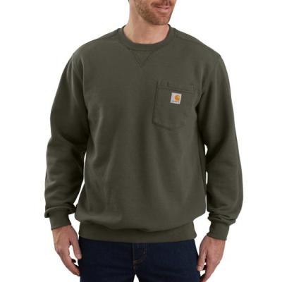 Crewneck Pocket Sweatshirt (Moss)