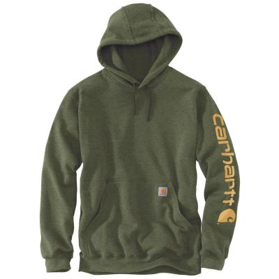 Midweight Hooded Logo Sweatshirt – Moss Heather