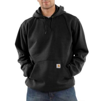 K121 – MIDWEIGHT HOODED SWTSHT (BLK)
