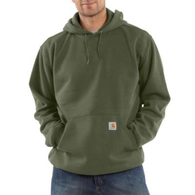 K121 – MIDWEIGHT HOODED SWTSHT (MOSS)