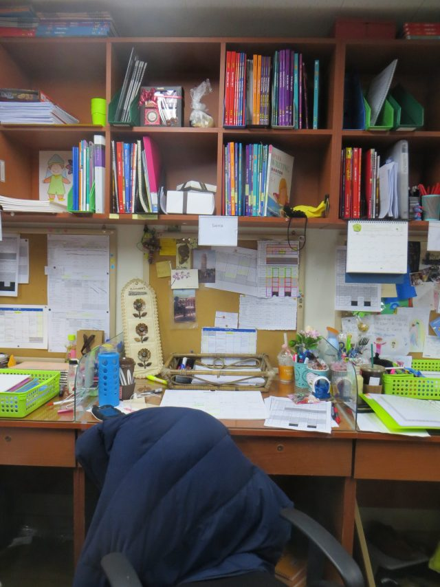 My little workspace, March 14, 2016