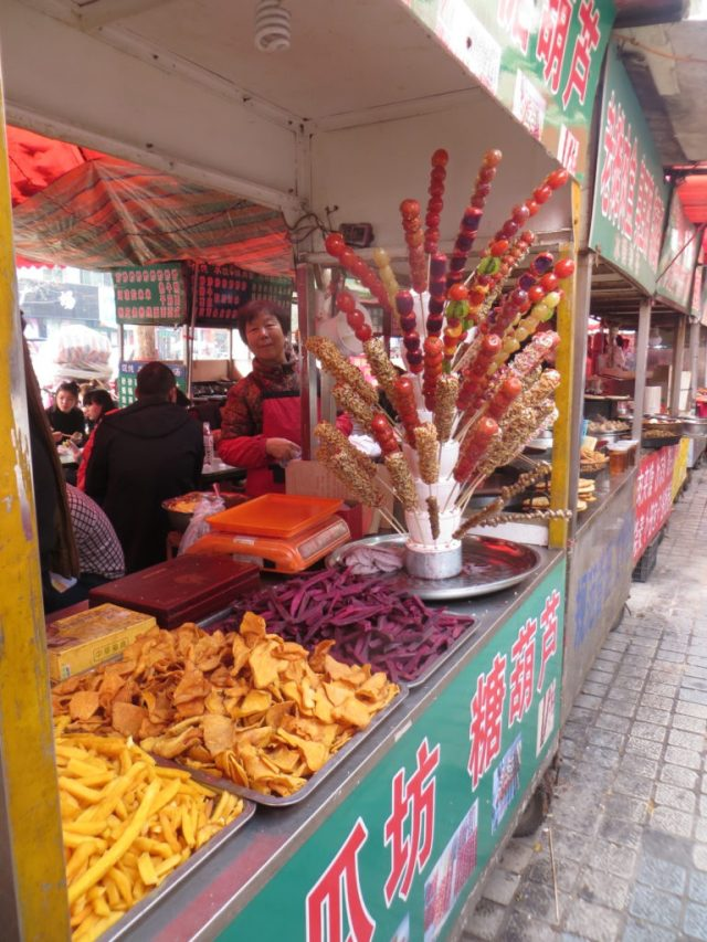 Traditional Chinese chips and fruit candies, November 19, 2016