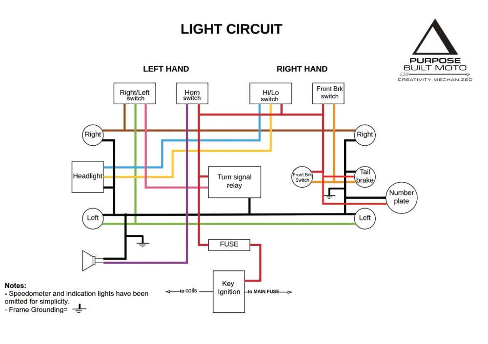 medium resolution of motorcycle electrics 101 re wiring your cafe racer purpose light switch wiring diagram on vn800 turn