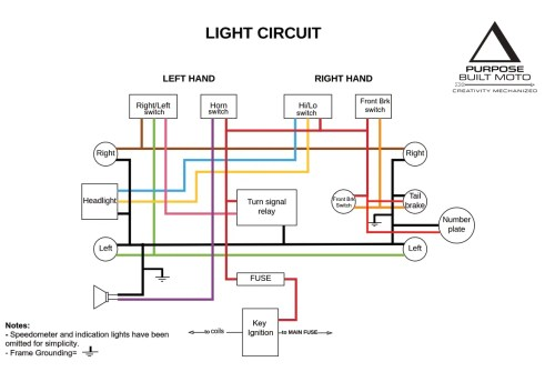 small resolution of motorcycle electrics 101 re wiring your cafe racer purpose light switch wiring diagram on vn800 turn