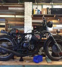 project bike rd350 cafe racer rat bike custom motorcycle australia [ 1280 x 960 Pixel ]