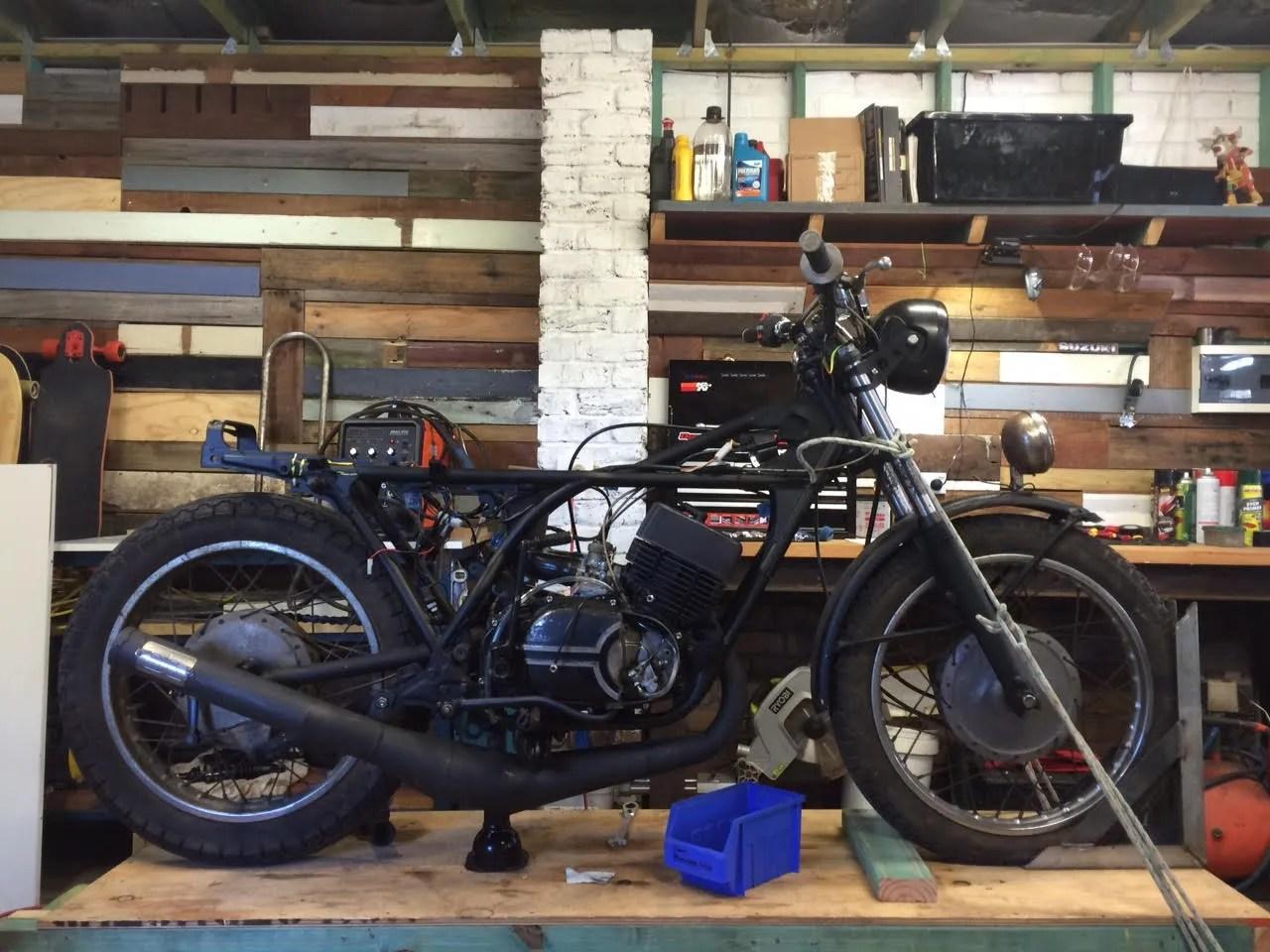 hight resolution of project bike rd350 cafe racer rat bike custom motorcycle australia