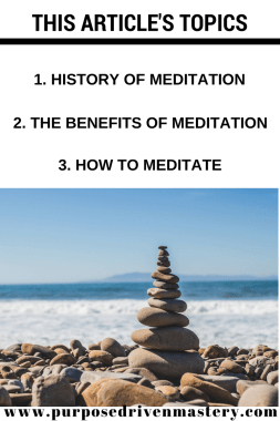 Meditation - Purpose Driven Mastery