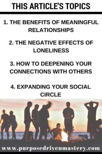 Happiness: Meaningful Relationships - Purpose Driven Mastery