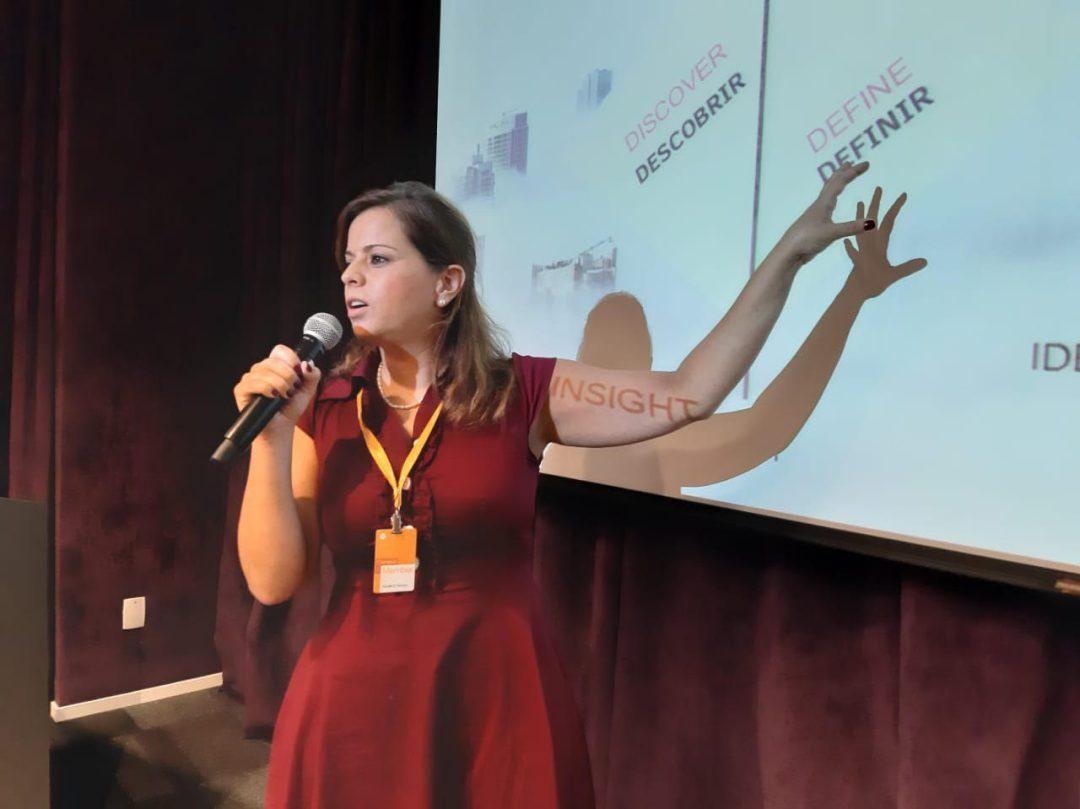 Lina Maria Kotschedoff at a presentation