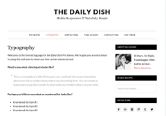 Typography-dailydish-WordPress-Theme