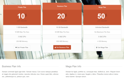 Pricing Table in Enfold