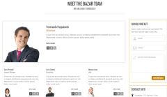 About us page of Bazar shop page