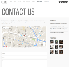 Contact Us Page of Core