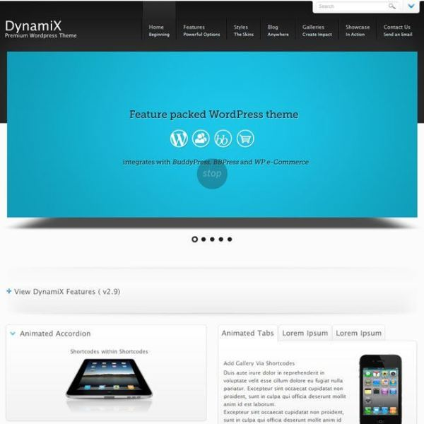 DynamiX- A WordPress Theme for blogging and Magazine