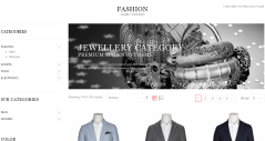 Fashion page of Legenda theme