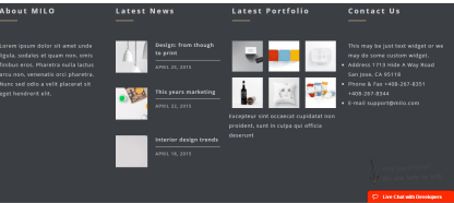 Footer of London Creative+ theme