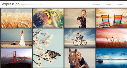 Gallery of expression theme with lightbox effect