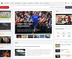 GoodNews- Several home page layouts are possible with this theme