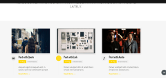 Jarvis theme showinh blog
