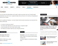NewsPaper-WordPress-Theme-Contact