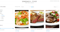 Page displaying various Food