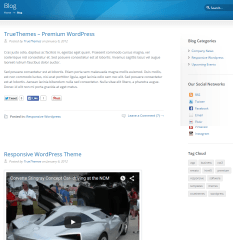 Sterling- Blog page of this theme