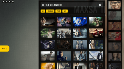 This Way WP- Portfolio template with 4 columns, portfolio filters and amazing hover effects
