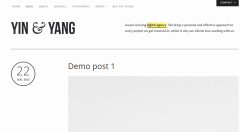 Yin & Yang- Blog page layout
