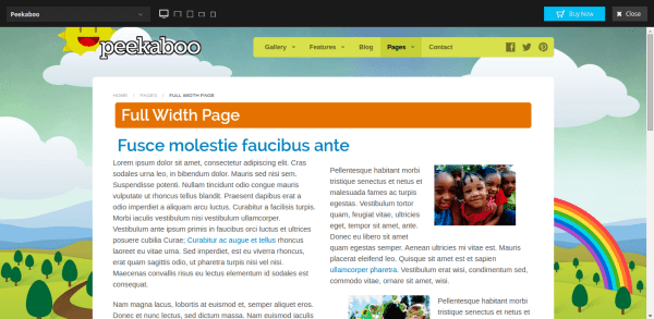 Daycare and school wp theme