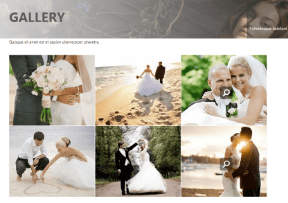 Gallery Layout of Wedding Style Theme