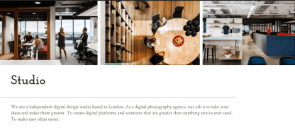 About us page of Lens studio