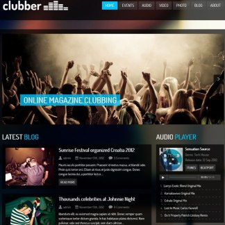Clubber-Events & Music WordPress Theme