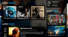Clubber- Latest Albums featured on front page using widget