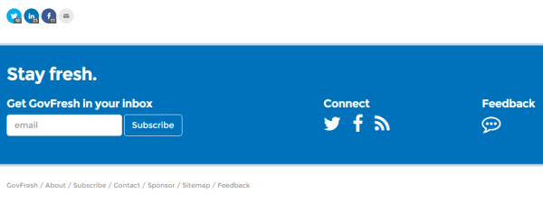 Footer page of GovFresh WP theme