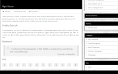 JPhotolio- Page template with right sidebar and column division in Content