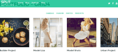 Portfolio – Grid 4 page of Split theme
