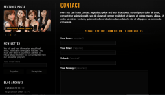 Prestige- Contact Form with left sidebar