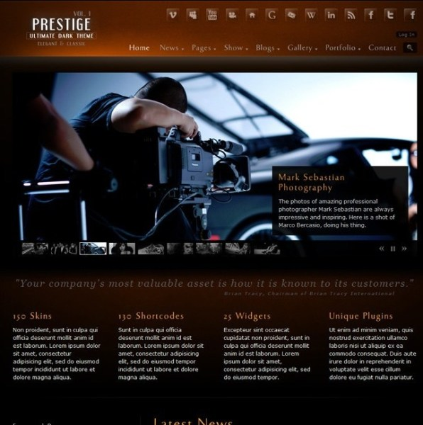 Prestige- Ultimate WordPress Theme
