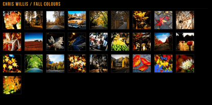 Prestige- Gallery layout of this theme. Many other layouts are also supported