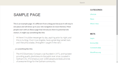 Sample page of Fullby theme.
