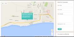 BookYourTravel -Contact Page with Google Map