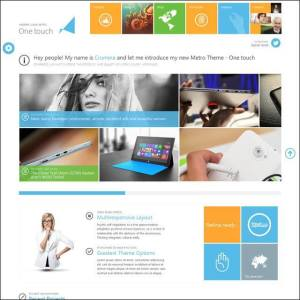One Touch-Multifunctional Metro Stylish Theme